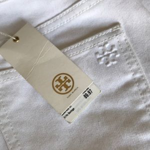 Tory Burch Jeans - NWT Tory Burch Cropped White Jeans Size 23 or 0